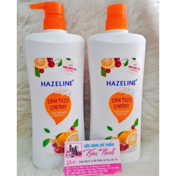 Sữa Tắm Hazeline Tẩy Tế Bào Chết Sáng Da Cam Yuzu Và Cherry (670g) giá rẻ