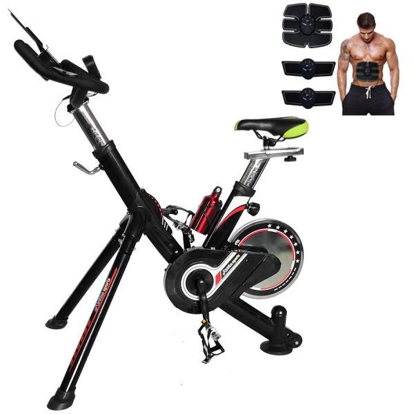 [Lấy mã giảm thêm 30%]Xe Đạp Tập Thể Dục Đa Năng Tại Nhà Air Bike MK124 + Tặng Máy Massage Xung Điện