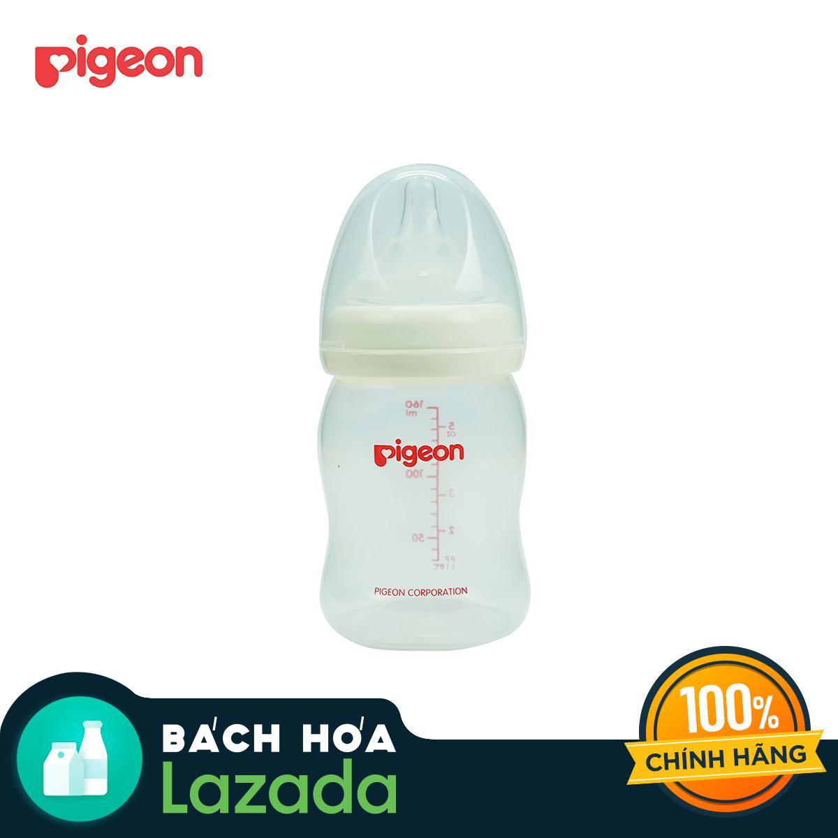 [TẶNG CÂY RỬA BÌNH] Bình sữa PIGEON PP Plus 160ml