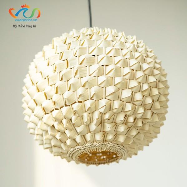 Đèn lồng tre sầu riêng VUADECOR đường đan tỉ mỉ độ bền cao decor trang trí nhà cửa