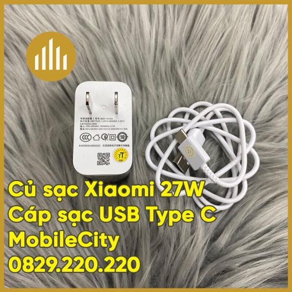 Cáp, củ sạc nhanh Xiaomi 27W - [Giá rẻ tại Hà Nội, Tp.HCM, Đà Nẵng - MobileCity]
