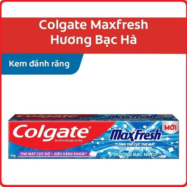 Kem đánh răng colgate Maxfresh hương bạc hà 180g cam kết hàng đúng mô tả sản xuất theo công nghệ hiện đại an toàn cho người sử dụng cao cấp