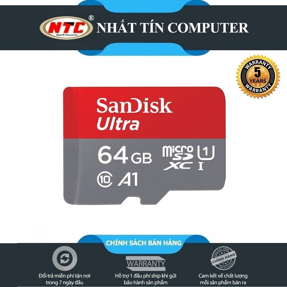 Giá Thẻ Nhớ Microsdxc sandi Ultra A1 64Gb Class 10 U1 100Mb/S - Box Hoa (Đỏ)