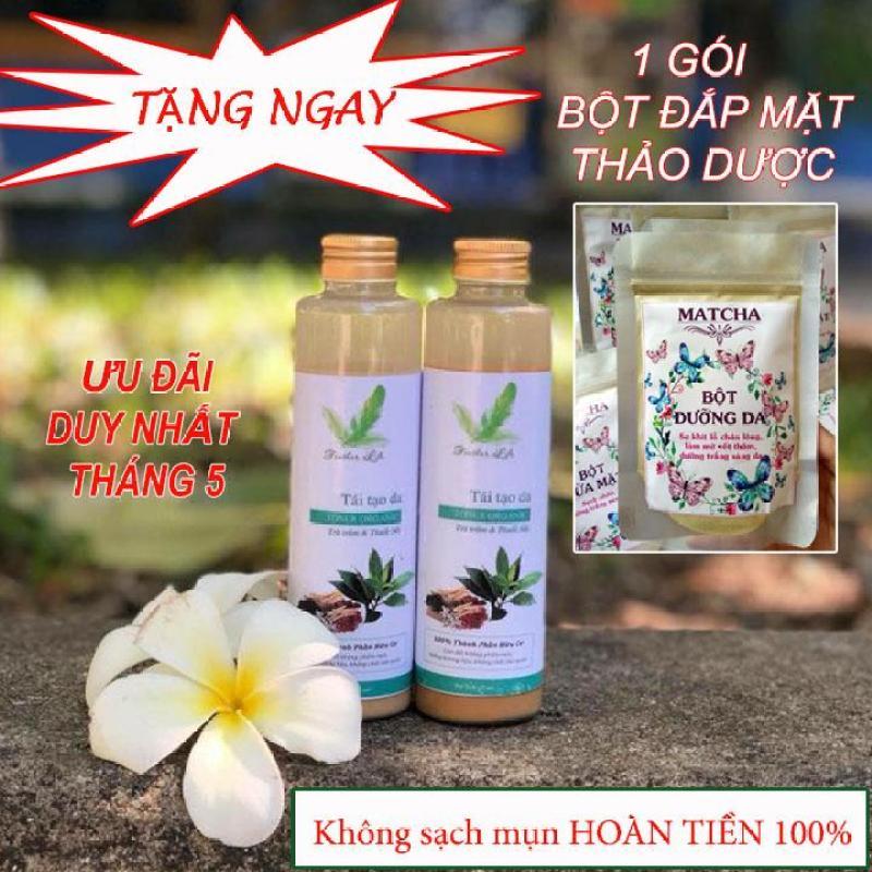 COMBO thảo dược trị mụn TẶNG bột đắp mặt dưỡng da thảo dược TRỊ GIÁ 70k cao cấp
