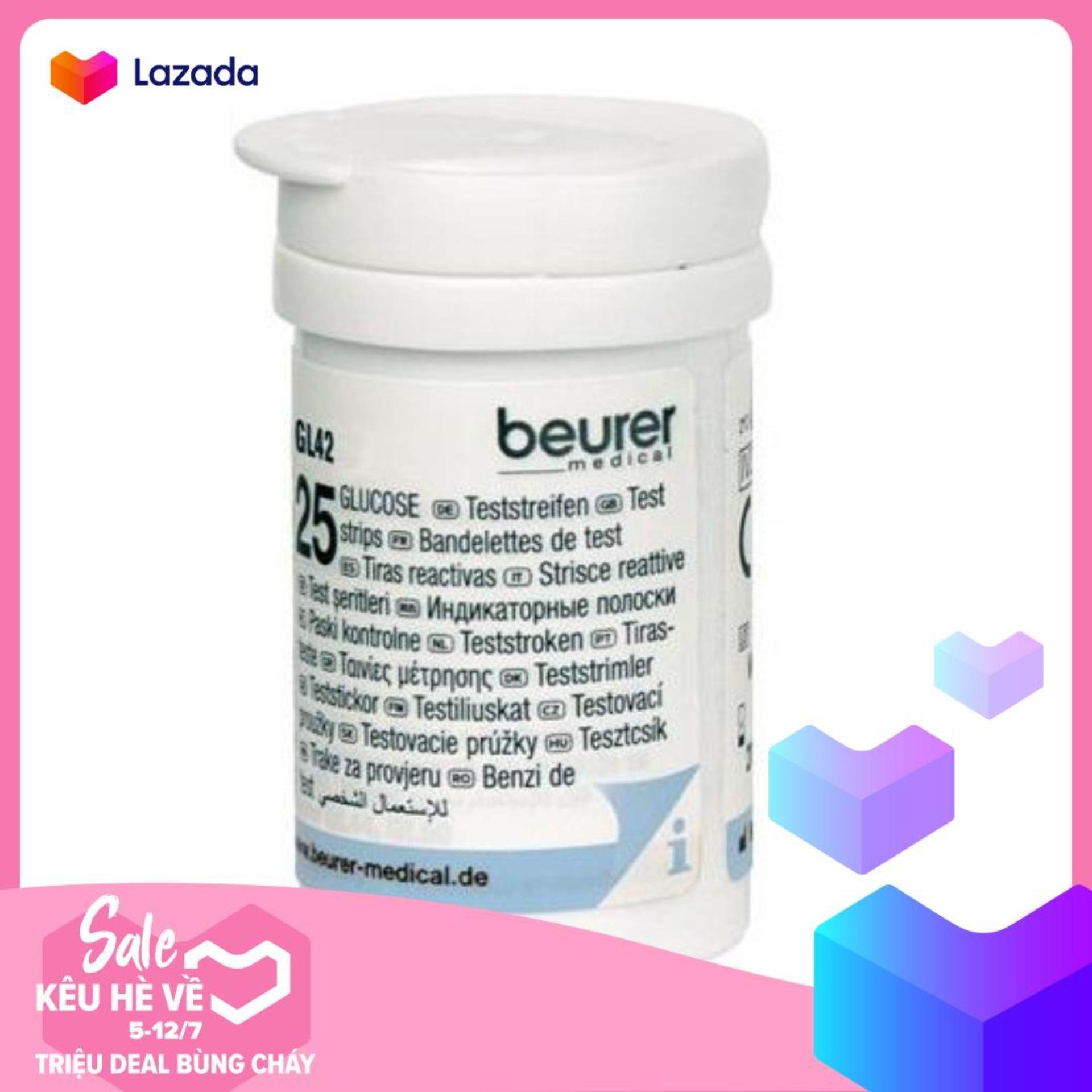 Hộp 25 que thử đường huyết Beurer GL42
