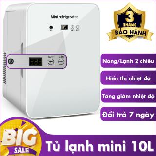 [ TẶNG KÈM KHĂN LAU CÓ MÓC ] Tủ lạnh mini, tủ lạnh 10L - hiển thị nhiệt độ, tủ lạnh - tủ lạnh mini dùng trên xe hơi và trong nhà thumbnail