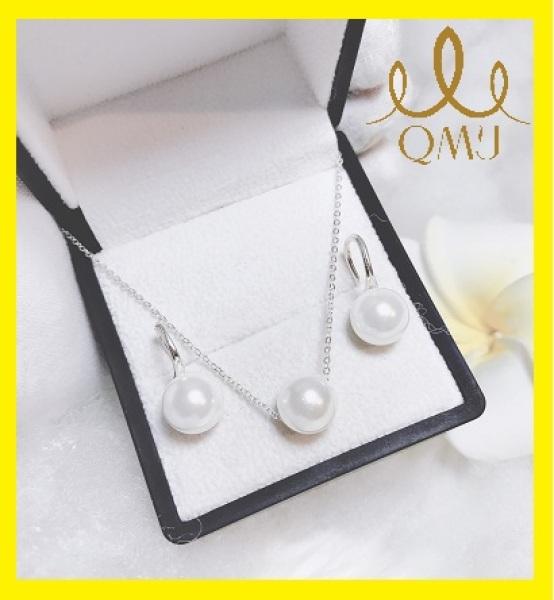 Bộ bạc nữ đẹp - Bộ châu duyên dáng bạc 925 cao cấp, bạc chuẩn 100%