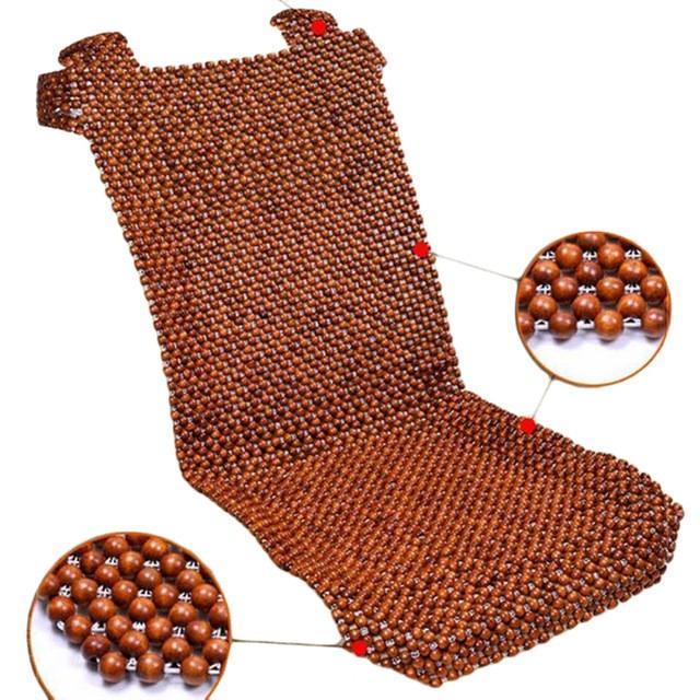Đệm lót ghế ô tô, xe hơi hạt gỗ nhãn 460x1050 mm Auto World