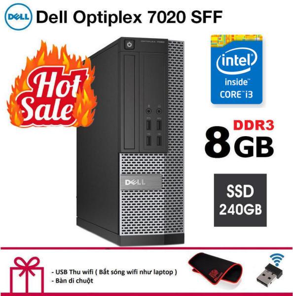 Bảng giá Case máy tính để bàn Dell Optiplex 7020 SFF cpu Intel Core i3 4130, ram 8GB, Ổ cứng SSD 240GB. Hàng Nhập Khẩu.Tặng Bàn Di Chuột và USB Thu Wifi.Bảo hành 2 năm [ máy tính đồng bộ dell ] Phong Vũ