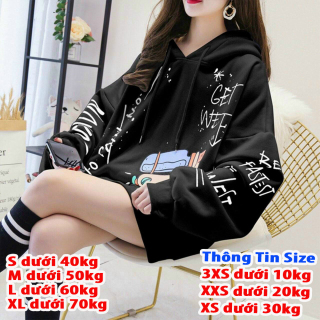 [HCM][FREESHIP TOÀN QUỐC] Áo hoodie nỉ nữ form rộng cá tính cho nàng giá rẻ cực hot thumbnail
