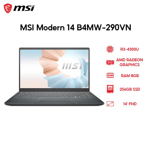 Bảng giá Laptop MSI Modern 14 B4MW-290VN R3-4300U | 8GB | 256GB | AMD Radeon Graphics | 14 FHD | Win 10 Phong Vũ