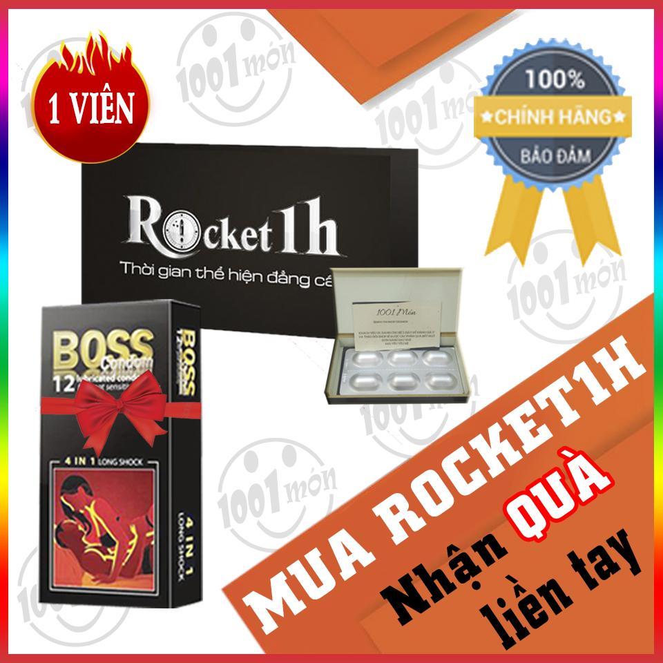 Mua 1 viên rocket 1h hỗ trợ tình dục nam + tặng 1 bao cao su boss (12 cái) - 1001 món nhập khẩu