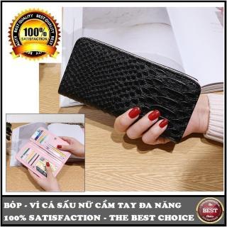 Bóp - ví cầm tay thời trang nữ tiện lợi, đa năng kiểu gập 16 ngăn đựng 18cmx9cmx1cm thumbnail