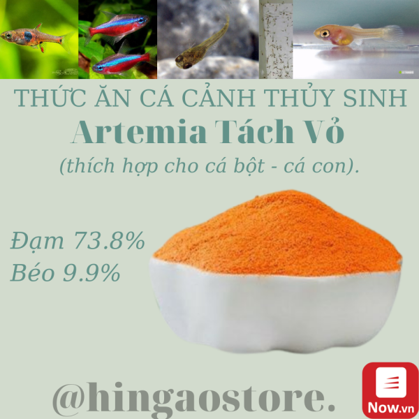 Artemia Tách Vỏ Gói 80g- Thức ăn cá cảnh | Hingaostore.