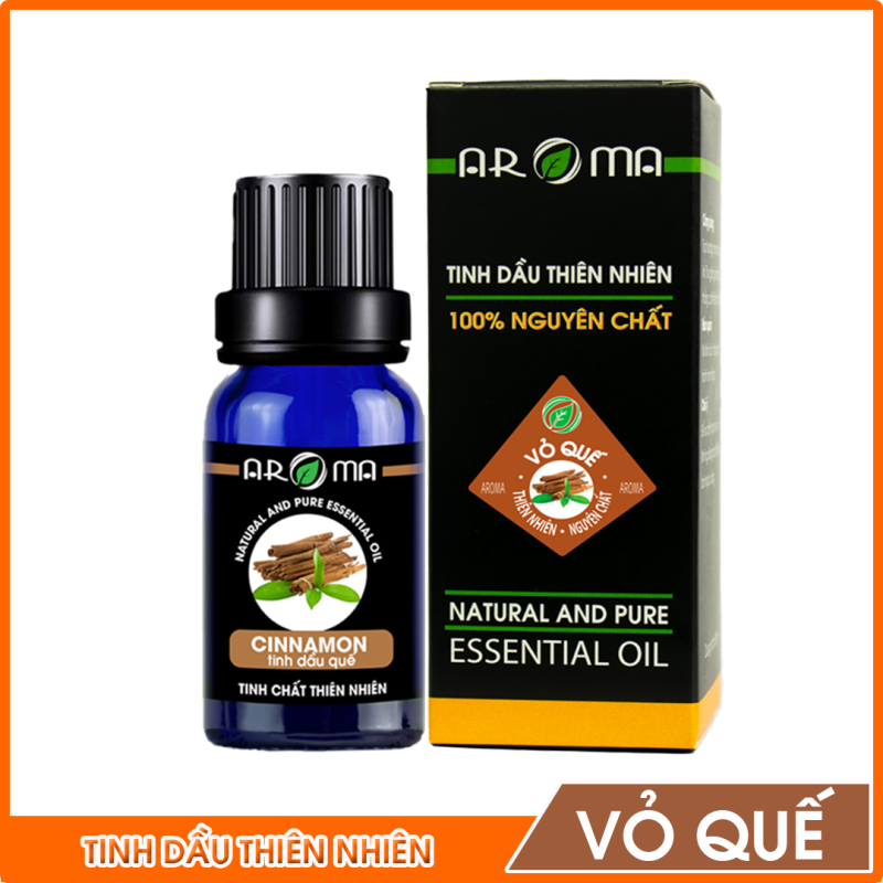 Tinh dầu Vỏ Quế AROMA 100% nguyên chất từ thiên nhiên làm không gian ấp áp, thư giãn; chăm sóc sức khỏe, sắc đẹp | Cinnamon nhập khẩu