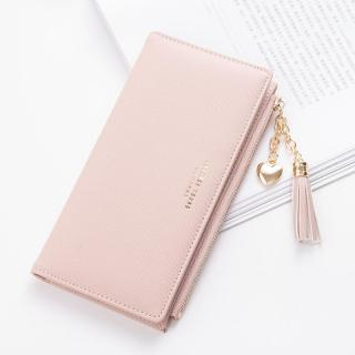 Bóp nữ cầm tay - Đựng vừa điện thoại - Mẫu mới - Cá tính - Sang trọng(Màu xanh da trời, đen và hồng phấn)TT05 thumbnail