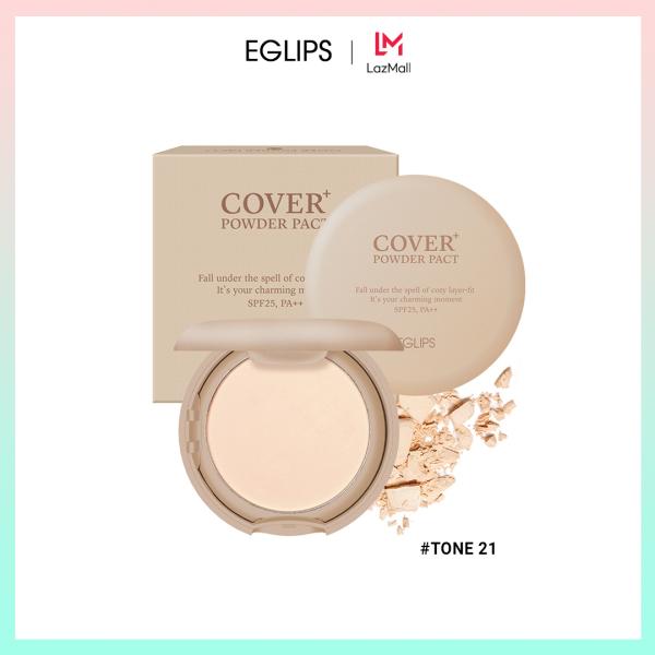 Phấn phủ dạng nén Eglips Cover+ Powder Pact SPF 25, PA++ 9g