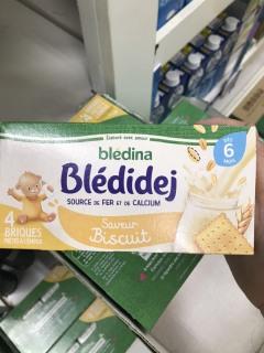 Sữa nước Bledina 6m vị bích quy ( 1 lốc 4 hộp ) date 08.2021 thumbnail