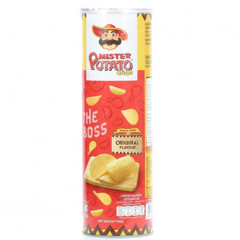 Snack khoai tây chiên Mister Potato Chips vị Original hộp 100g
