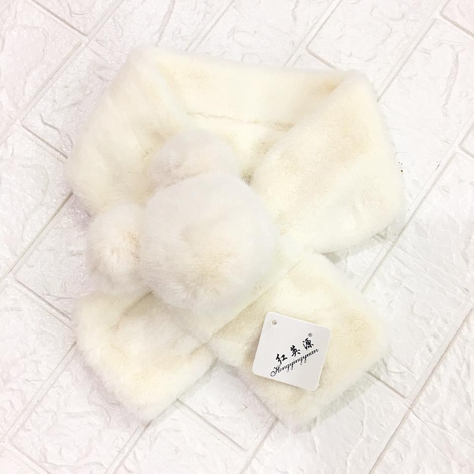 Giá bán *Khăn quàng cổ:khăn lông thỏ,free size lớn bé(KHCE0.H0