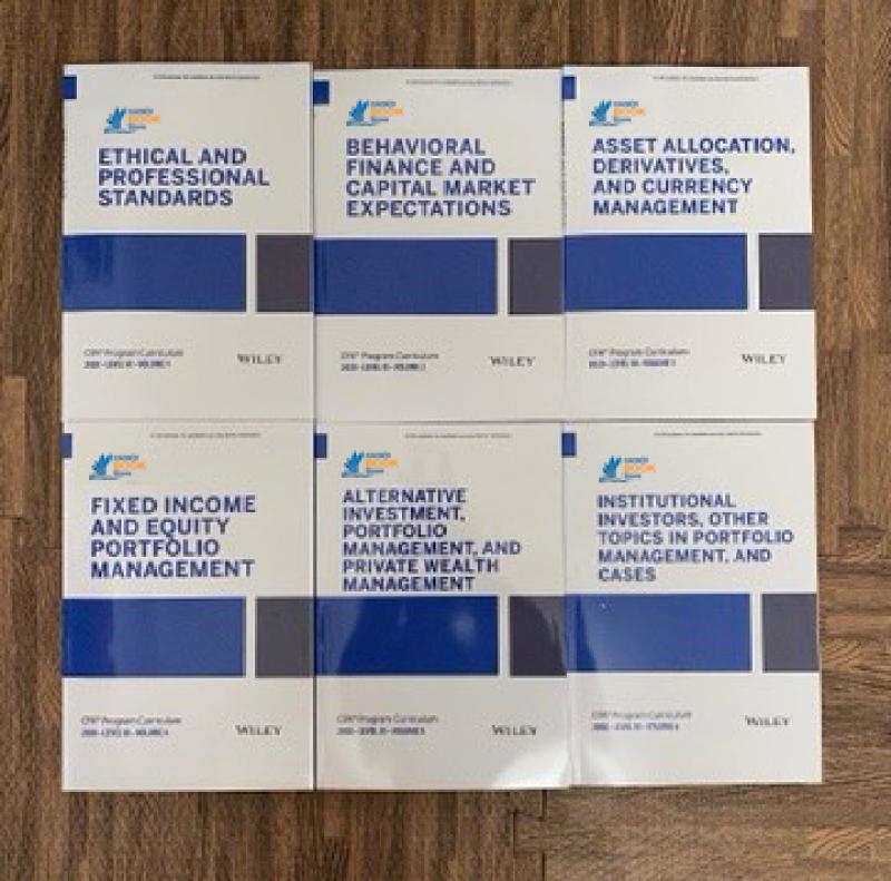 bộ sách 6 cuốn CFA Program Curriculum 2020 Level III, ( sách gia công keo gáy) tặng kèm Schwesers Quicksheet