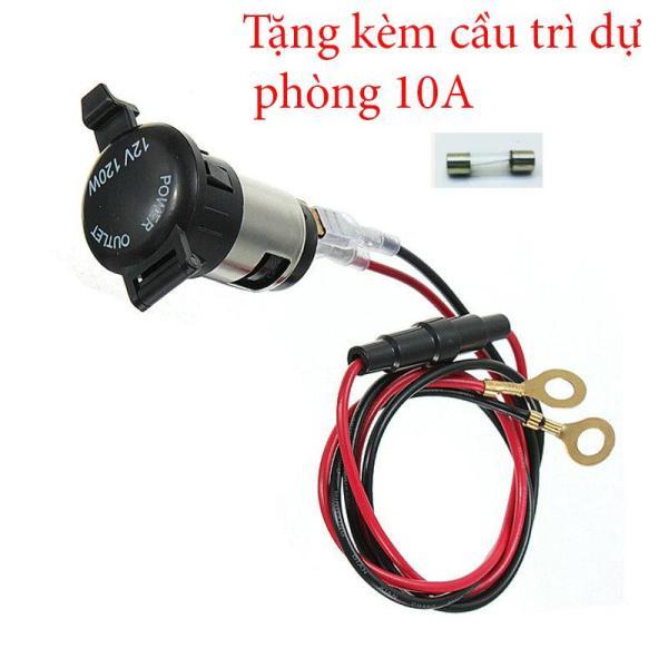 Đầu ổ cắm nguồn tẩu trên ô tô xe máy 12V - 24v 120W