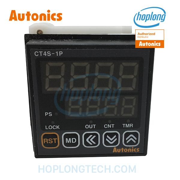 CT4S-1P4 Bộ đếm Bộ đặt thời gian 48x48mm 4 chữ số đạt trước 1 giá trị 100-240VAC AUTONICS