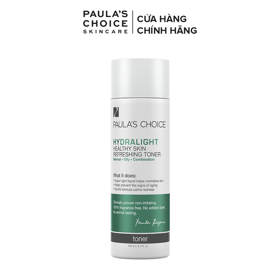 Nước hoa hồng cung cấp khoáng chất tươi mới dành cho mọi loại da Paula's Choice Hydralight Healthy Skin Refreshing Toner 190ml