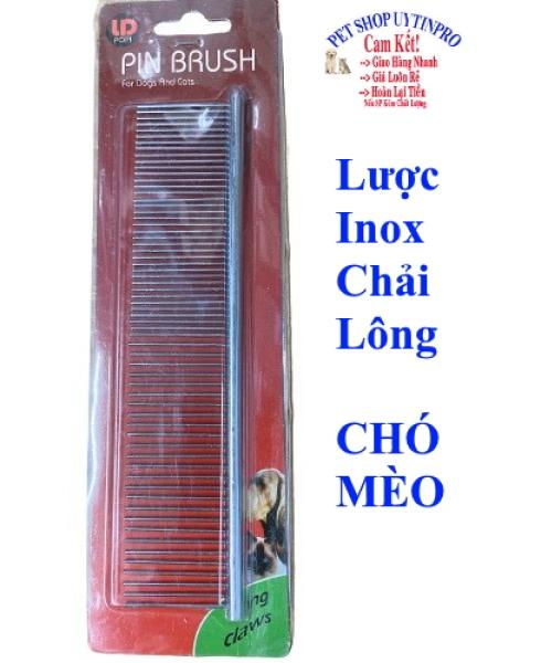 LƯỢC INOX CHẢI LÔNG CHO THÚ CƯNG CHÓ MÈO Dài 19cm Thương hiệu PIN BRUSH