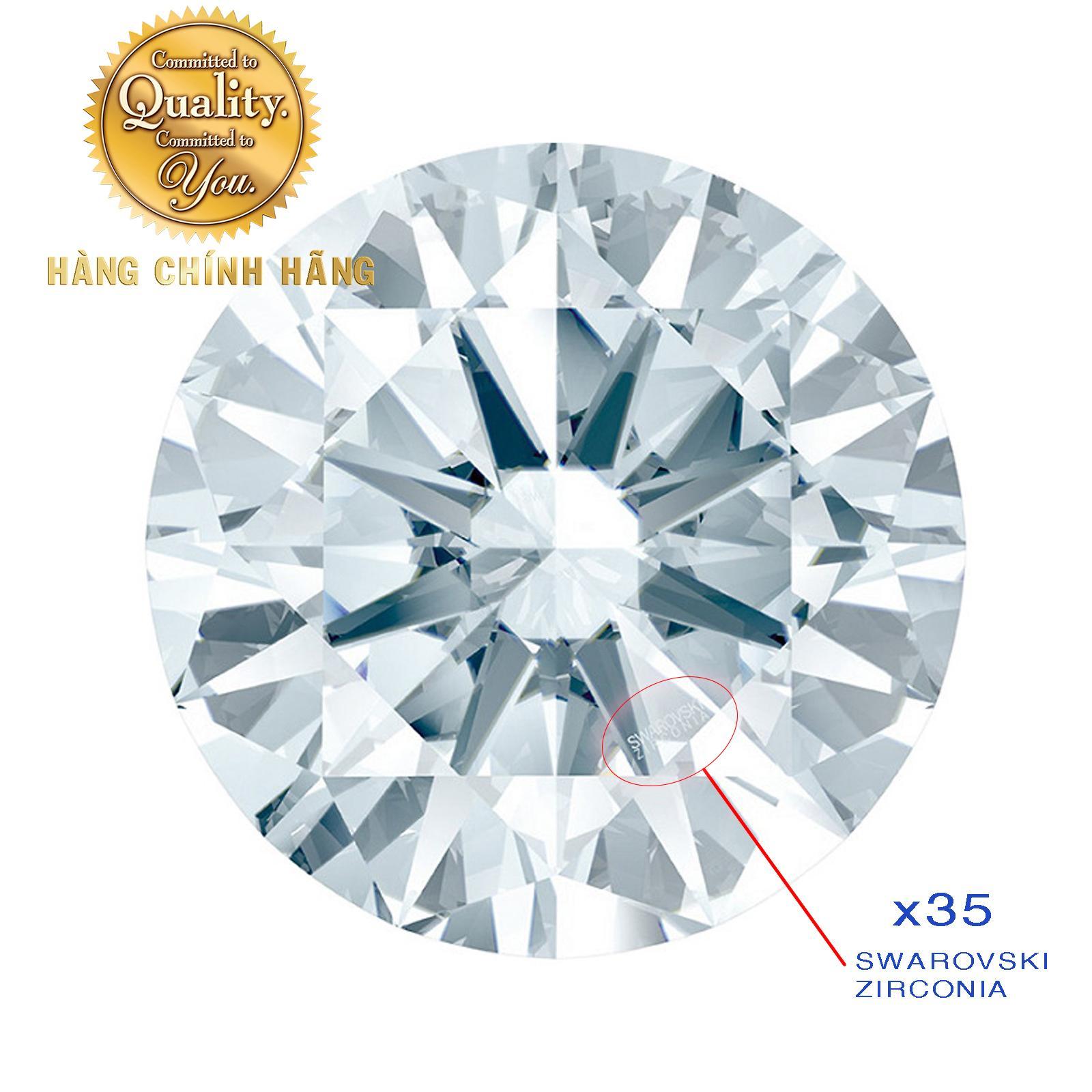 Offer Khuyến Mại Kim Cương Nhân Tạo Swarovski Gems Màu Trắng đủ Size (WHITE)