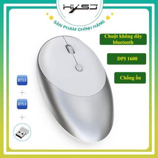 Chuột không dây HXSJ T36 Công nghệ quang học DPI 1600, Chuột 3 chế độ Bluetooth 2 chế độ 3.0 và 5.0 khoảng cách kết nối 10m nhỏ nhẹ-BẢO HÀNH 12 THÁNG HÀNG CHÍNH HÃNG thumbnail