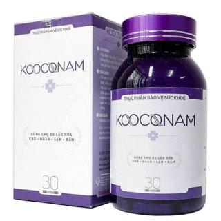 Kooconam - Hỗ trợ bổ sung nội tiết tố tự nhiên, bổ âm, dưỡng huyết, giúp làm chậm quá trình lão hoá da, ngăn ngừa và làm mờ nám da (30 viên) thumbnail