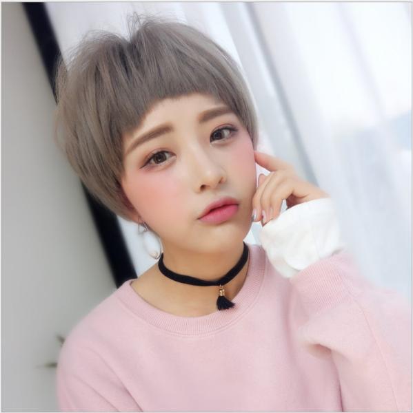 [TẶNG KÈM LƯỚI] Tóc giả nữ tomboy cá tính Hàn Quốc - TG63 ( MÀU XÁM KHÓI )
