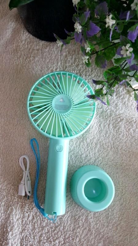 Quạt Mini Fan Có Pin Sạc Cầm Tay Tuỳ Chỉnh 3 Cấp Độ Siêu Mát Hàn Quốc - Đế Quạt Mới Có Chổ Đặt Điện Thoại(Chọn Màu)