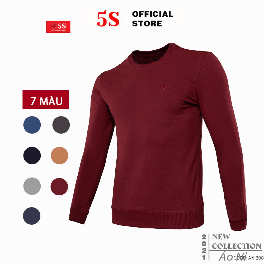 Áo Nỉ Nam Thể Thao Nam 5S (7 màu), Mặc Nhà Hoặc Đi Chơi, Chất Nỉ Cotton Co Giãn Thoải Mái, Thấm Hút Tốt