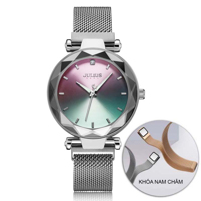 Đồng hồ nữ Julius Hàn Quốc JA-1166 mặt chuyển sắc dây thép nam châm bán chạy