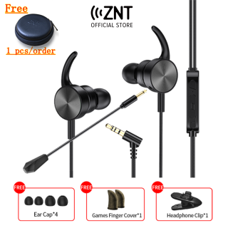 ZNT GM01 Wired Gaming Earphones No Delay Deep Bass Gaming Headset In-Ear Earphone Gaming Headphone Earphones Earbuds Noise Reduction Headset with Mic Sport PUBG For GAMING PC Phone thumbnail