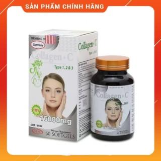 Viên uống đẹp da Collagen +C Type 123 giảm thâm nám tàn nhang, ngừa nếp nhăn, chống lão hóa - Hộp 60 viên - COLLAGEN C thumbnail