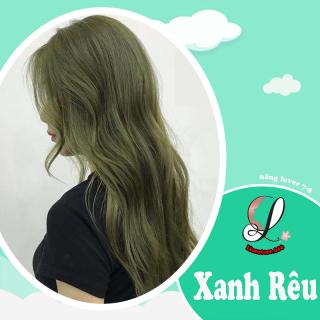 Tự nhuộm tóc màu Xanh rêu lá khói tại nhà, hàng nội địa Việt Nam, không gây hư tổn cho tóc (Trọn bộ tặng gang tay, trợ nhuộm) thumbnail