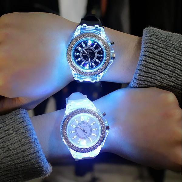 Đồng hồ thời trang nam nữ LED phát sáng cực hot MS099