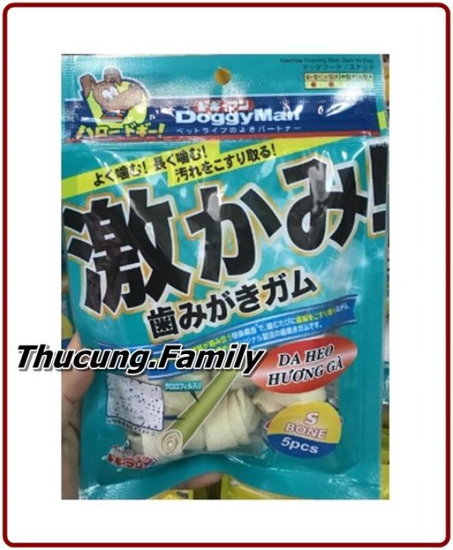 Combo 3 túi xương gặm da Bò cho Chó DoggyMan. Sạch răng- dễ tiêu hóa- giàu Protein. 70g/ túi.