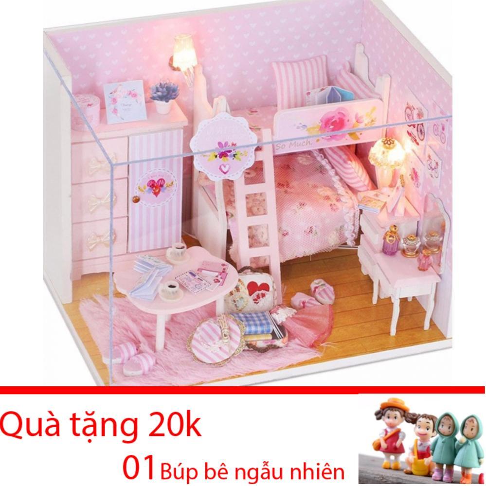 Mô Hình Nhà Gỗ DIY Có đèn - Pink Girl Với Giá Sốc