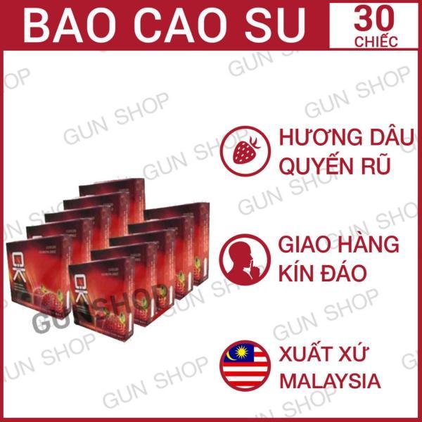 Bộ 10 (30 chiếc) Hộp bao cao su OK Dâu (Malaysia) - Gunshop cao cấp