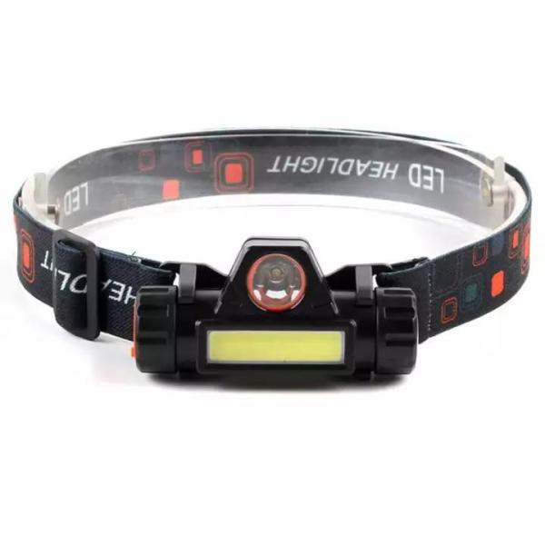 Đèn pin đội đầu siêu sáng B6 3 chế độ sáng sạc USB tiện lợi, chất liệu ABS an toàn, có chế độ tự động chống nước khi đi mua, thích hợp đi công trình