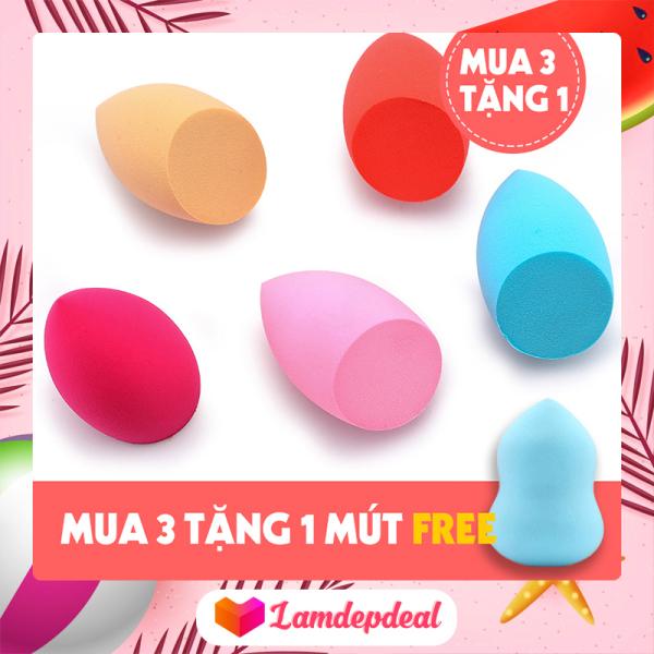 ♥ Lamdepdeal - [MUA 3 TẶNG 1] Mút đánh kem nền cao cấp Beauty Egg Sponge - Mút trang điểm, mút tán kem nền siêu mềm mịn, mút tán nền dễ vệ sinh giá rẻ