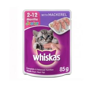Pate Cho Mèo Con Whiskas Vị Cá Ngừ Dạng Túi 85g - Cung cấp đầy đủ dinh dưỡng cho mèo con thumbnail