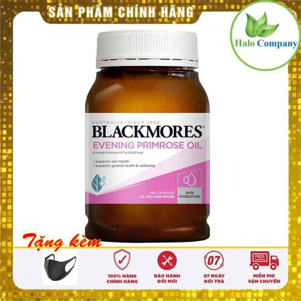 Tinh dầu hoa anh thảo Blackmores Evening primrose oil, thực phẩm chức năng hoa anh thảo úc cân bằng nội tiết tố Blackmore 190v