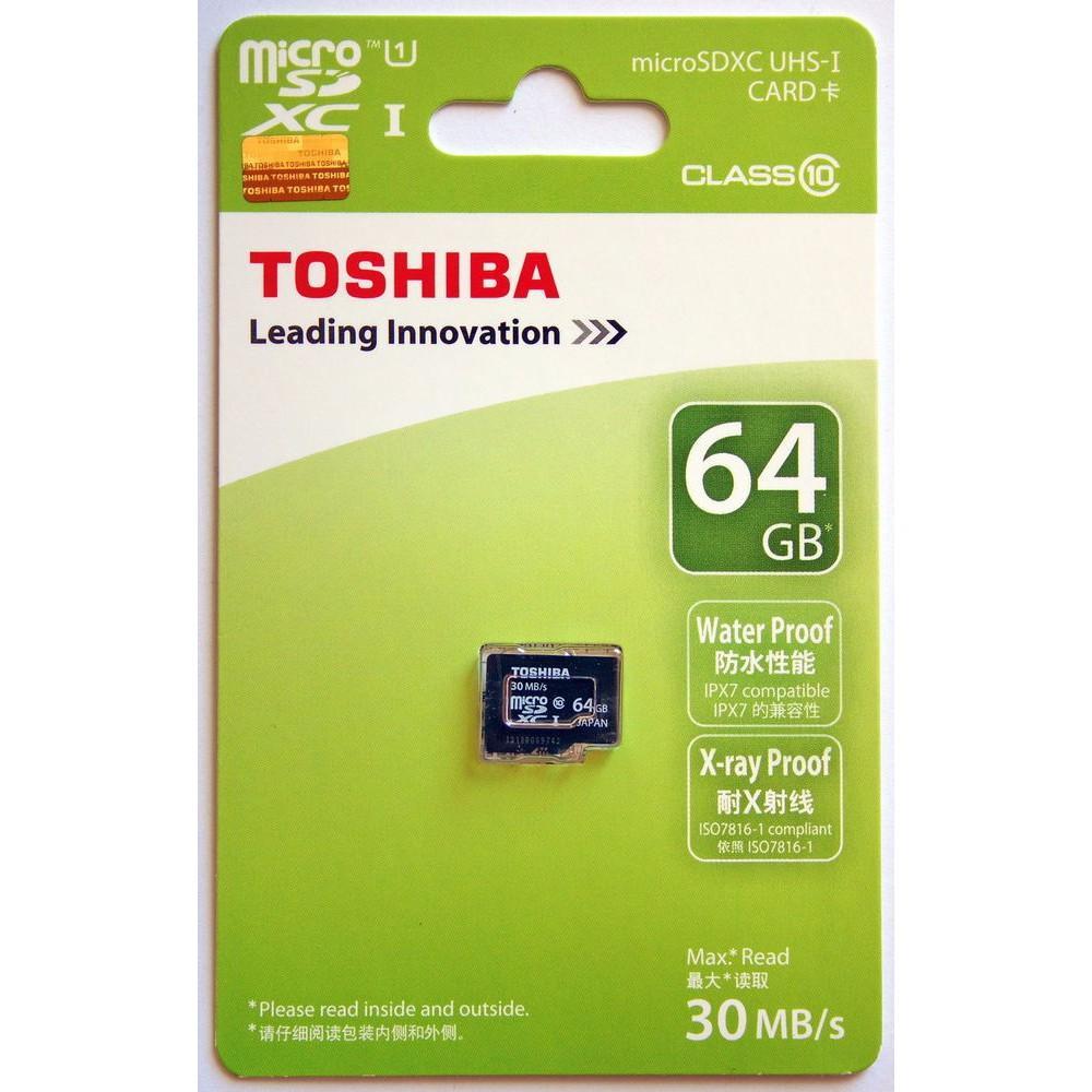THẺ NHỚ MICRO SD 64G TOSHIBA BOX XANH