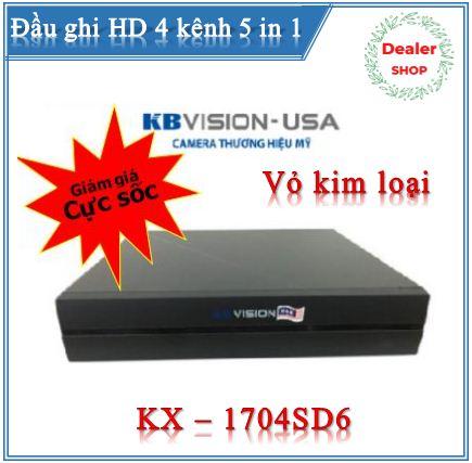 Đầu ghi KBVISON KX-7104SD6 ( 4 kênh HD 1080N + 1 kênh IP )