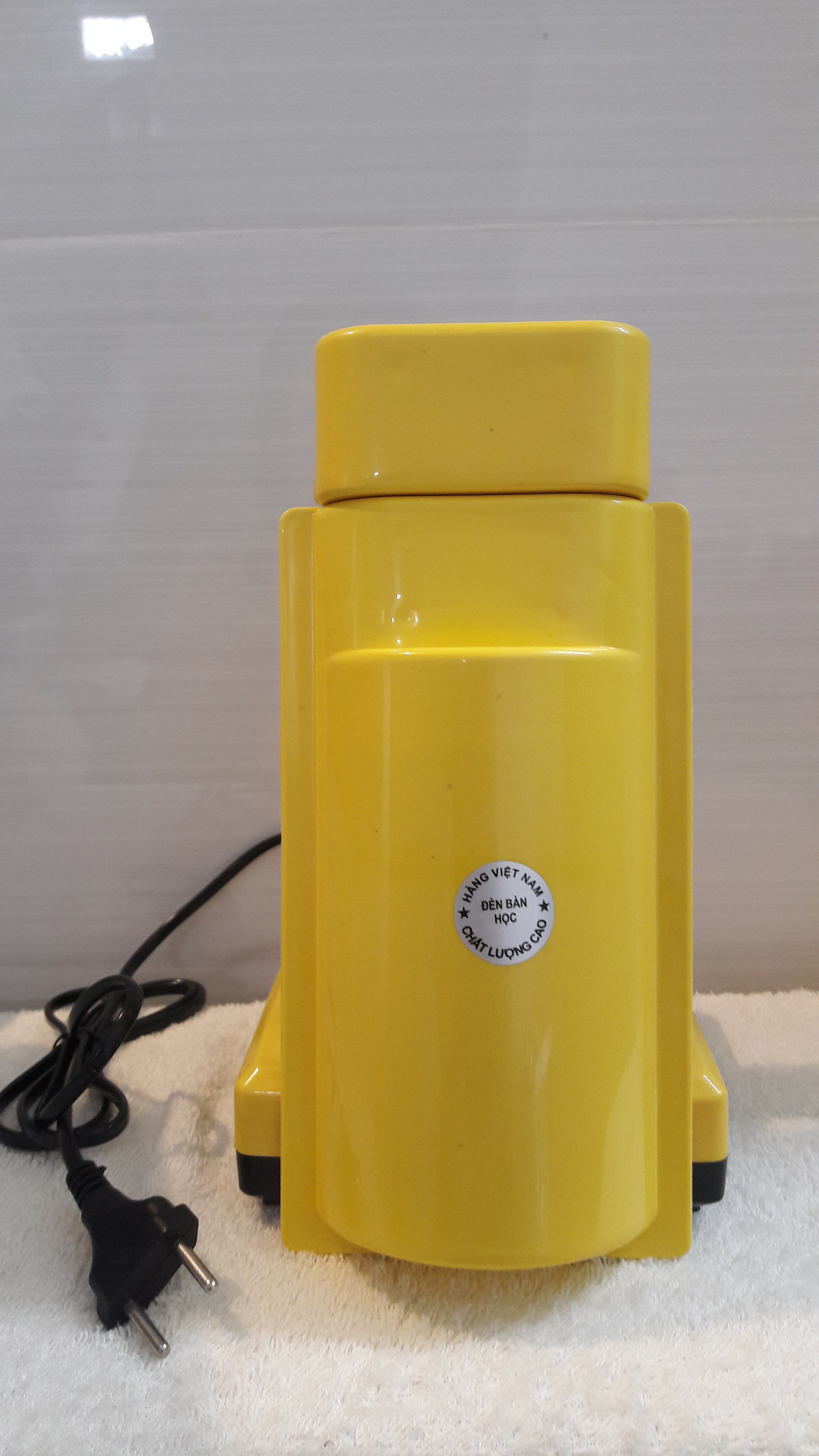 Combo Đèn bàn học Việt Nam/Đèn bàn học đế vuông và bóng compact Điện Quang 14W